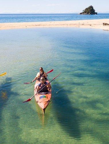 Marahau Sea Kayaks - MSK- Abel Tasman half day guided kayak & water taxi trip