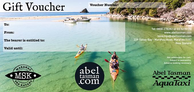 Abel Tasman Gift Voucher - Buy Online